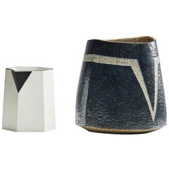 Pitcher and Stoneware Vase by Bodil Manz & Trine Heegaard, DK, Late 20th c.