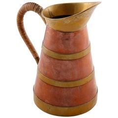 Pitcher Brass Copper Cane, 1960