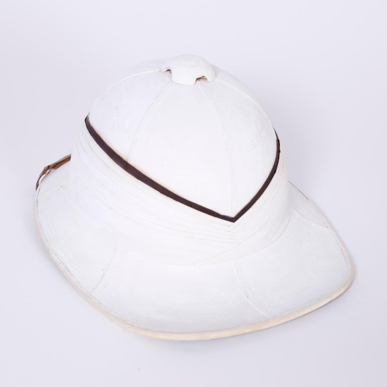 Edwardian Pith Helmet in the Original Tole Box For Sale