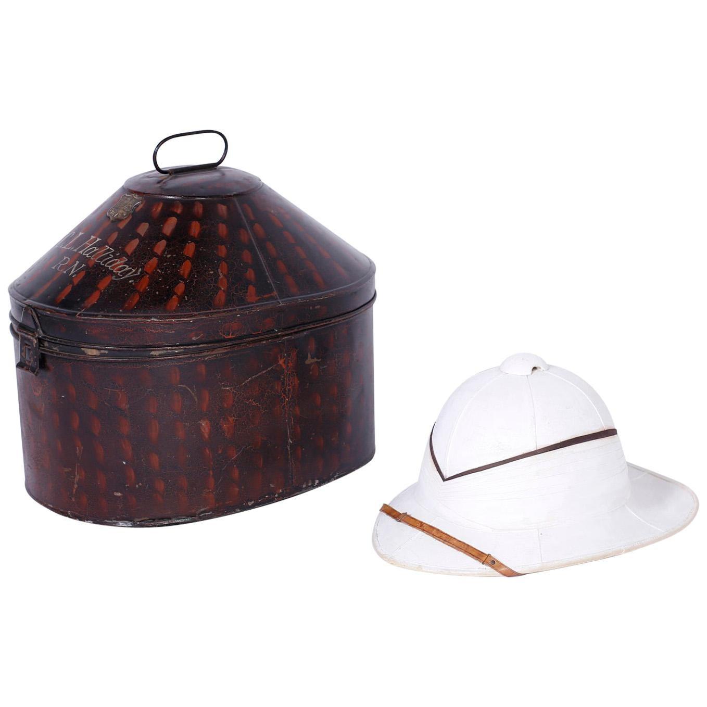 Pith Helmet in the Original Tole Box