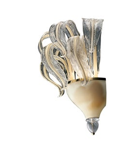 Piume 5391 Wall Sconce in Beige Gold Glass, by Barovier&Toso