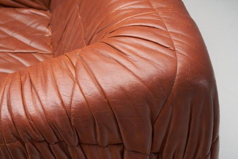 """""""Piumino"""" Club Chair by De Pas, D'Urbino & Lomazzi for Dell'Oca, Italy, 1970s For Sale 4"""