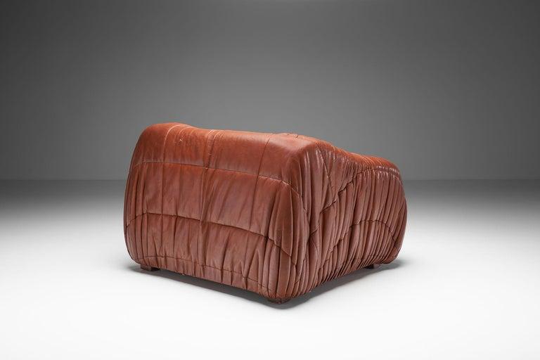 """Mid-Century Modern """"Piumino"""" Club Chair by De Pas, D'Urbino & Lomazzi for Dell'Oca, Italy, 1970s For Sale"""