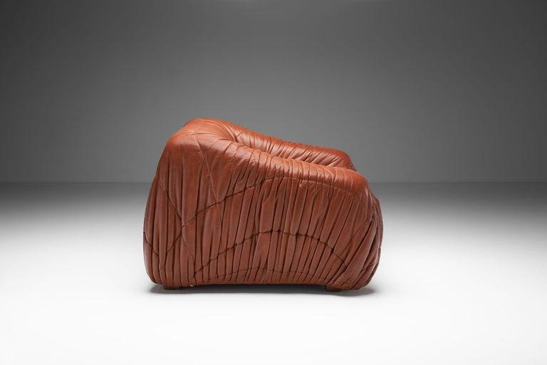"""Italian """"Piumino"""" Club Chair by De Pas, D'Urbino & Lomazzi for Dell'Oca, Italy, 1970s For Sale"""