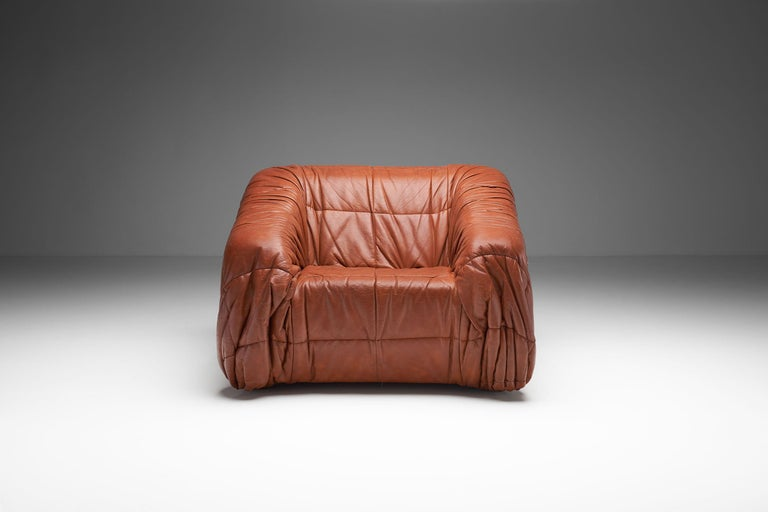 """Piumino"" Club Chair by De Pas, D'Urbino & Lomazzi for Dell'Oca, Italy, 1970s In Good Condition For Sale In Utrecht, NL"