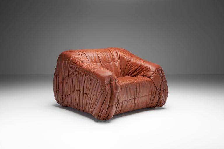 """Late 20th Century """"Piumino"""" Club Chair by De Pas, D'Urbino & Lomazzi for Dell'Oca, Italy, 1970s For Sale"""