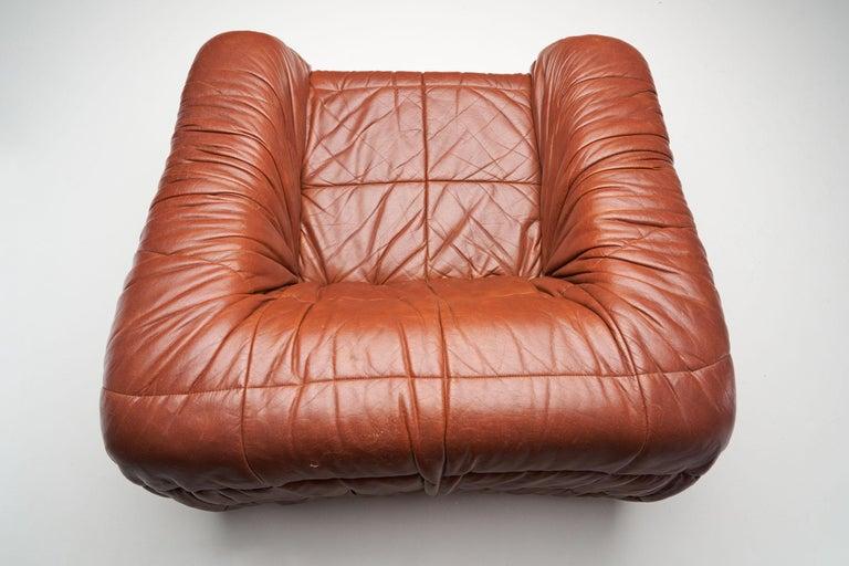 """""""Piumino"""" Club Chair by De Pas, D'Urbino & Lomazzi for Dell'Oca, Italy, 1970s For Sale 1"""