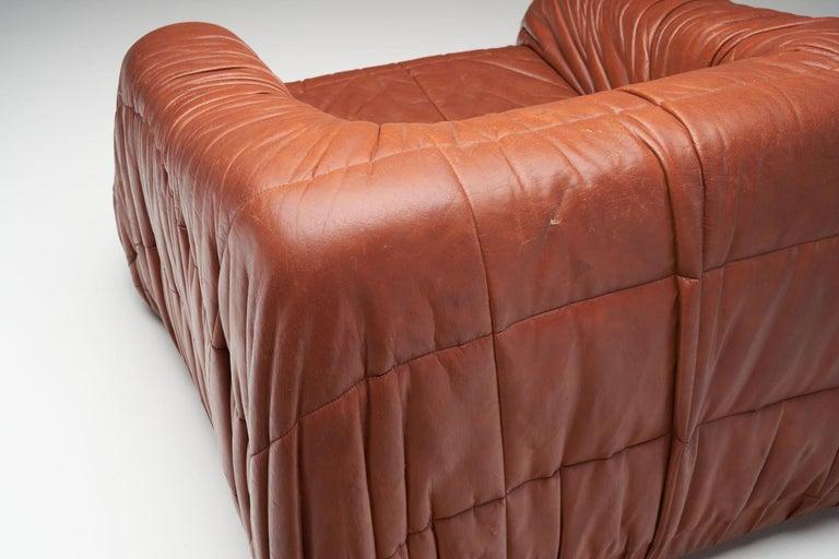 """""""Piumino"""" Club Chair by De Pas, D'Urbino & Lomazzi for Dell'Oca, Italy, 1970s For Sale 2"""
