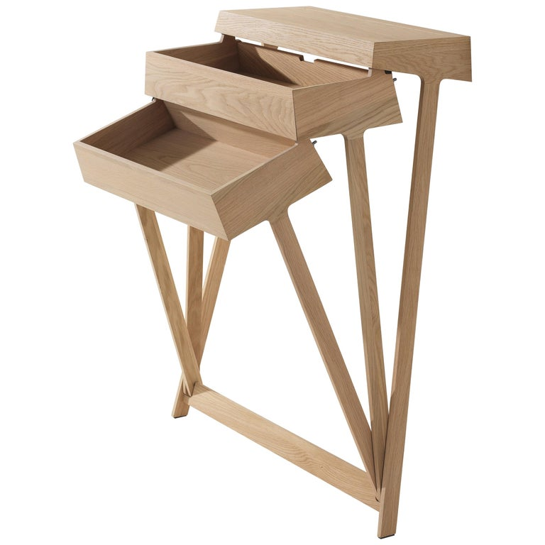 Pivot Solid Wood Cabinet Designed by Raw Edges For Sale