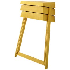 Pivot Yellow Solid Wood Cabinet Designed by Raw Edges