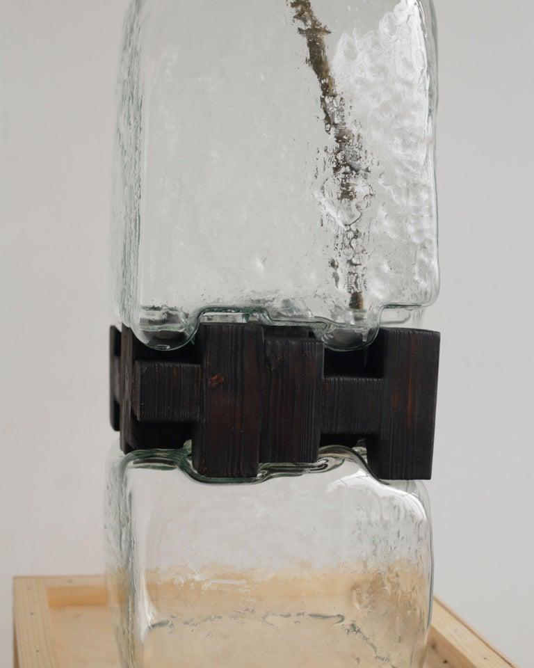 Pixel Vase Middle Oak by Drozhdini For Sale 5