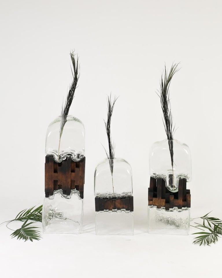 Pixel Vase Middle Oak by Drozhdini For Sale 7