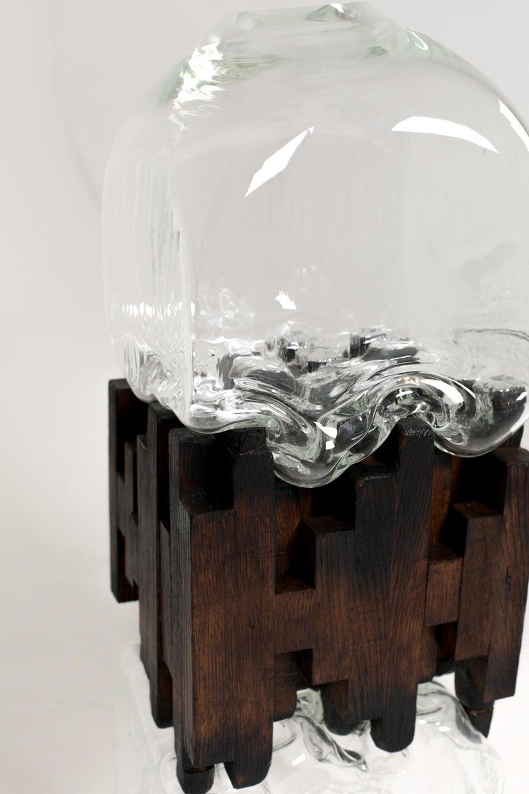 Russian Pixel Vase Middle Oak by Drozhdini For Sale