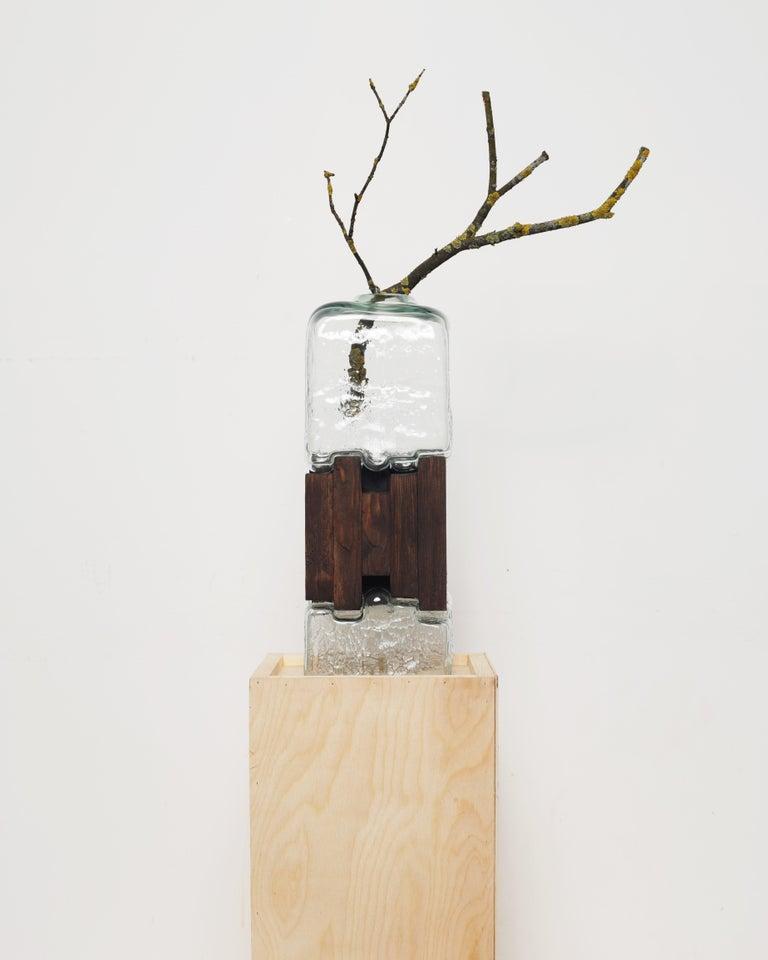 Contemporary Pixel Vase Middle Oak by Drozhdini For Sale