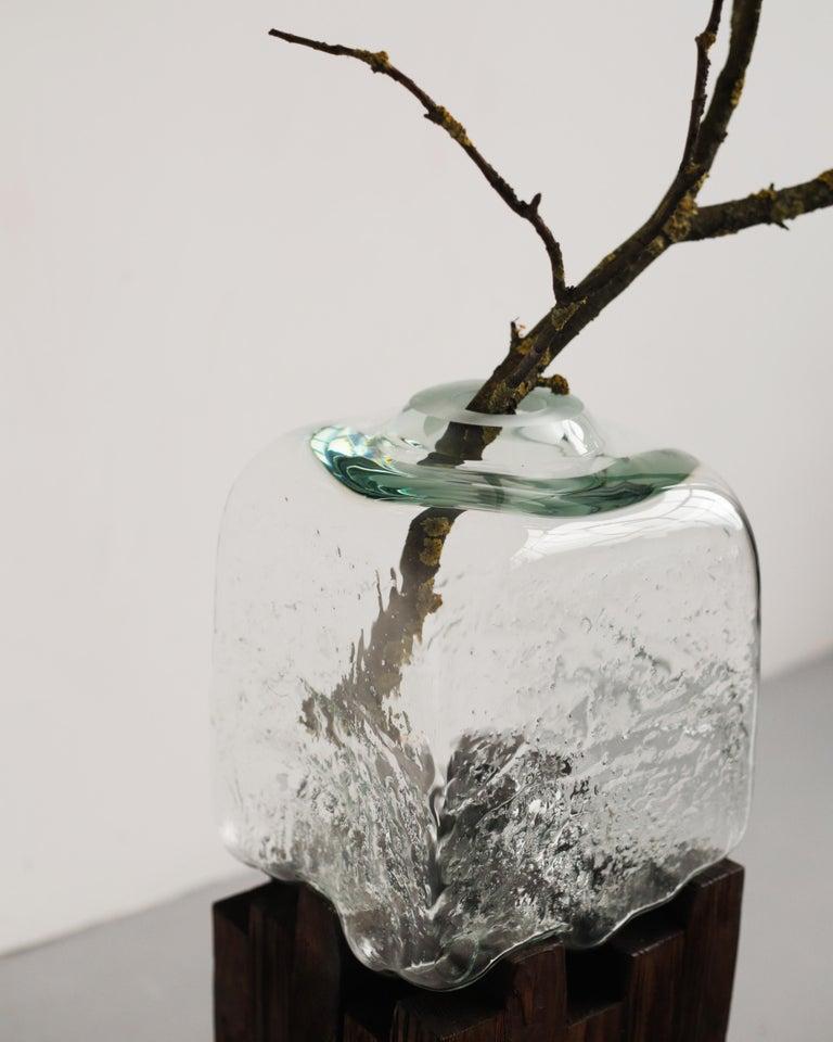 Glass Pixel Vase Middle Oak by Drozhdini For Sale