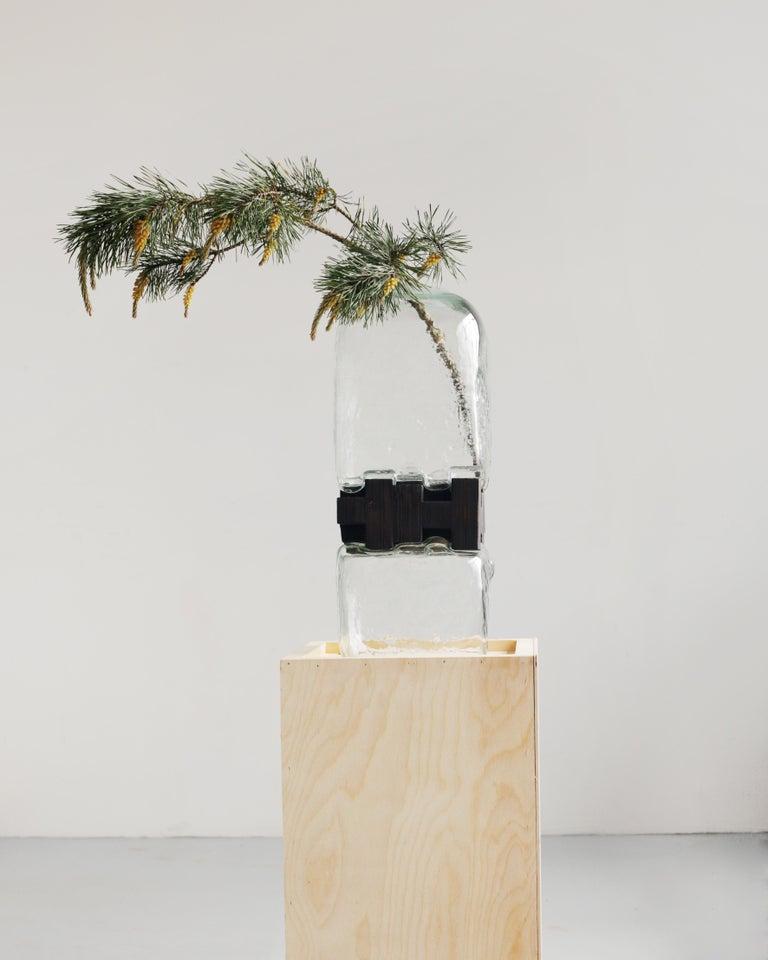 Pixel Vase Middle Oak by Drozhdini For Sale 1