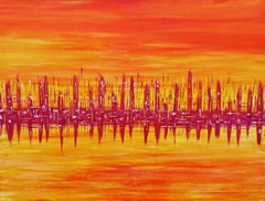 Pixie Willoughby, A New Dawn, Original Abstract Art, Affordable Art