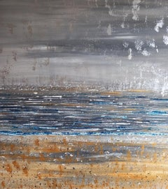 Pixie Willoughby, Beach Thoughts, Original Abstract Coastal Painting