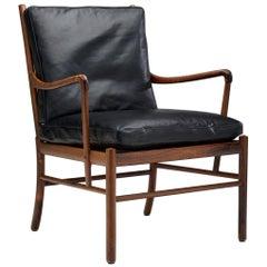 "PJ 149 ""Colonial"" Armchair by Ole Wanscher for Poul Jeppesen Møbelfabrik, Denmar"