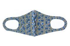Royal Blue Porcelain Urchin Neoprene Face Mask