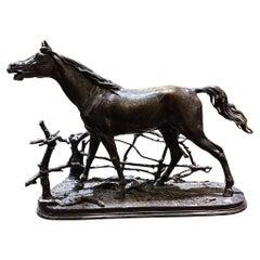 P.J. Mêne, Bronze Horse Figure Djinn Etalon Barbe, French Late 19th Century