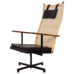 P.J. Muntendam for Gebr. Jonker Rattan Lounge Chair, the Netherlands, 1950s