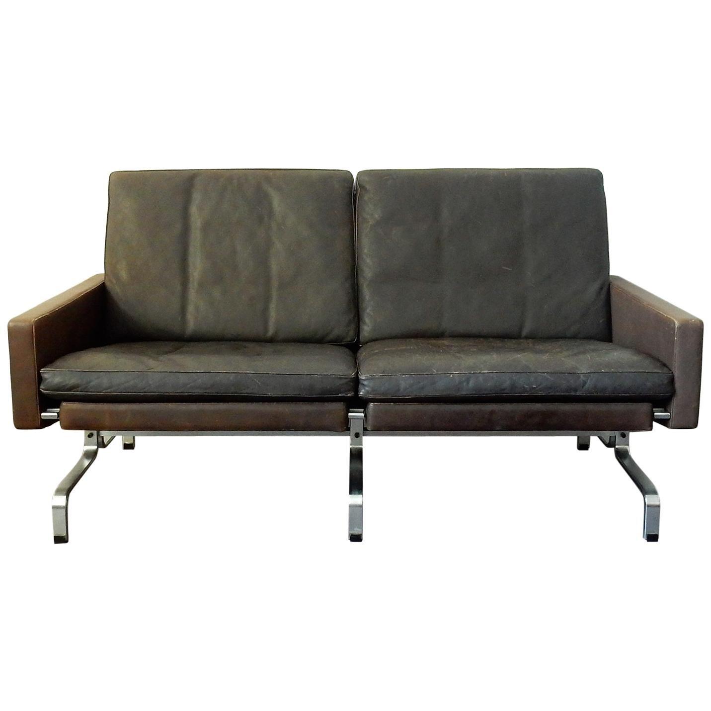 PK-31/2 Leather Sofa by Poul Kjaerholm for E. Kold Christensen, 1958, Denmark