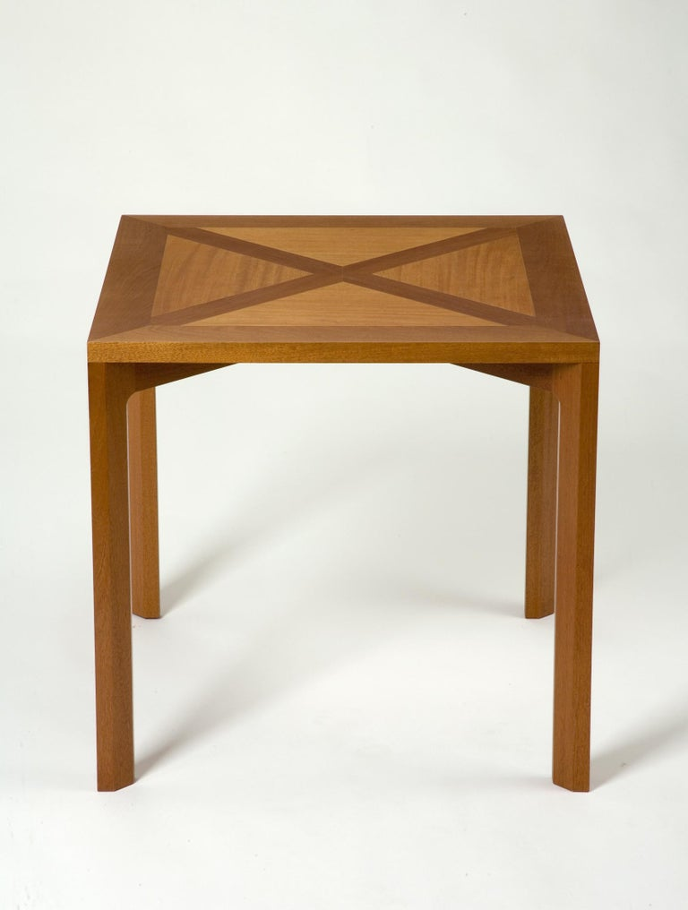 PK 70 dining table in mahogany. Designed by Poul Kjærholm, Denmark, 1972. Adapted from his tables for Restaurant Den Sorte Ravn. Produced by PP Møbler, Denmark, circa 1990.