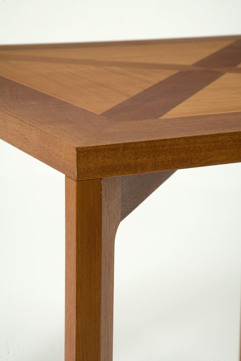 PK 70 Mahogany Dining Table by Poul Kjærholm, circa 1990 In Excellent Condition For Sale In New York, NY