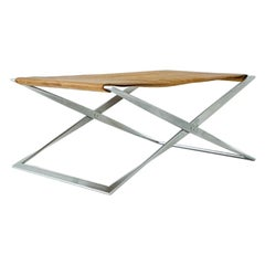 PK 91 Folding Stool, Poul Kjaerholm for E. Kold Christensen, 1961