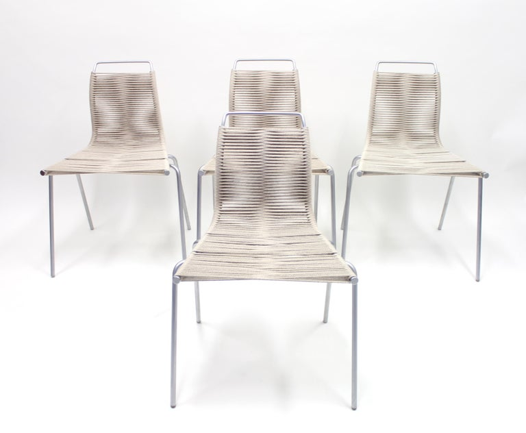 PK1 Chairs by Poul Kjærholm for Thorsen Møbler, Set of 4 For Sale 3