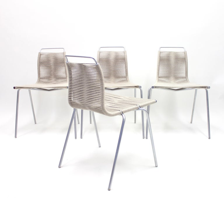 PK1 Chairs by Poul Kjærholm for Thorsen Møbler, Set of 4 For Sale 4