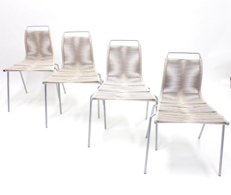 Scandinavian Modern PK1 Chairs by Poul Kjærholm for Thorsen Møbler, Set of 4 For Sale