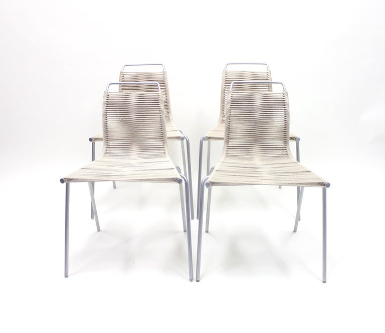 Danish PK1 Chairs by Poul Kjærholm for Thorsen Møbler, Set of 4 For Sale