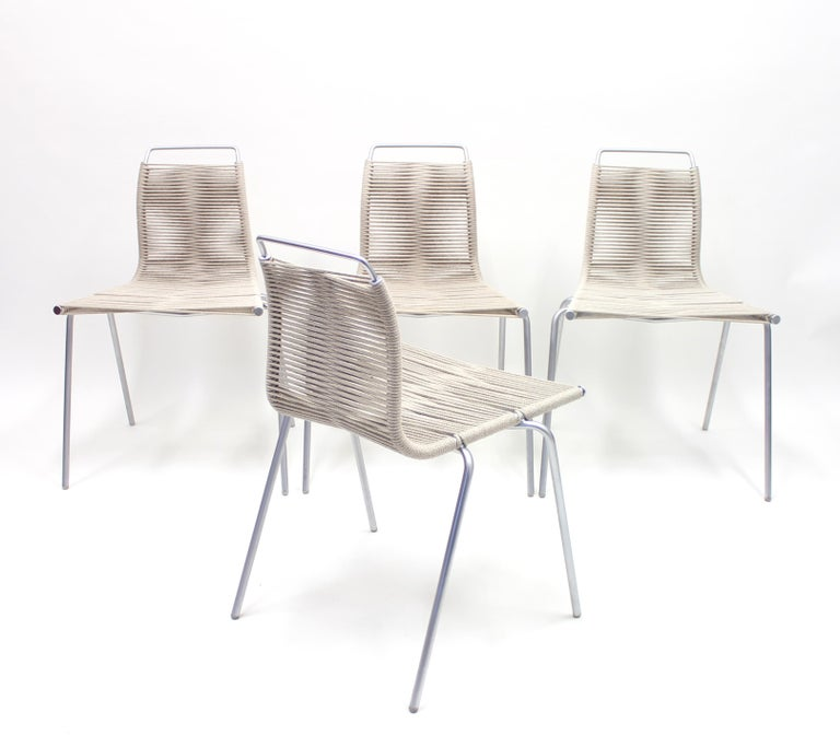 PK1 Chairs by Poul Kjærholm for Thorsen Møbler, Set of 4 In Good Condition For Sale In Uppsala, SE