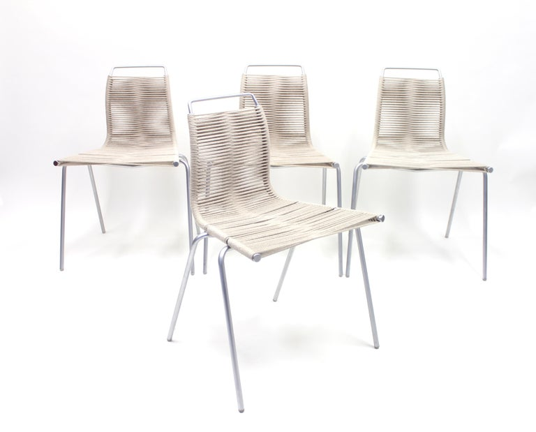 Mid-20th Century PK1 Chairs by Poul Kjærholm for Thorsen Møbler, Set of 4 For Sale