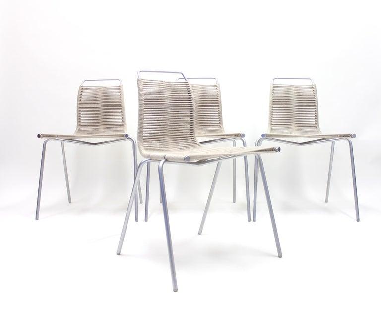 Aluminum PK1 Chairs by Poul Kjærholm for Thorsen Møbler, Set of 4 For Sale