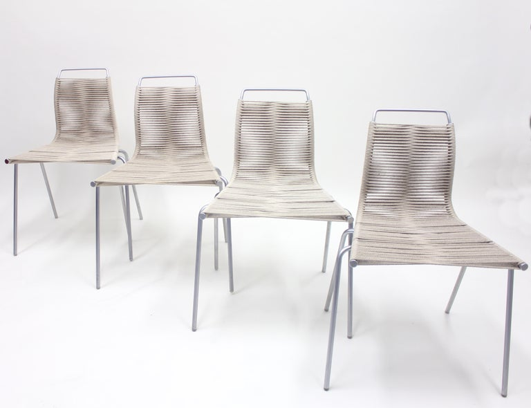 PK1 Chairs by Poul Kjærholm for Thorsen Møbler, Set of 4 For Sale 1