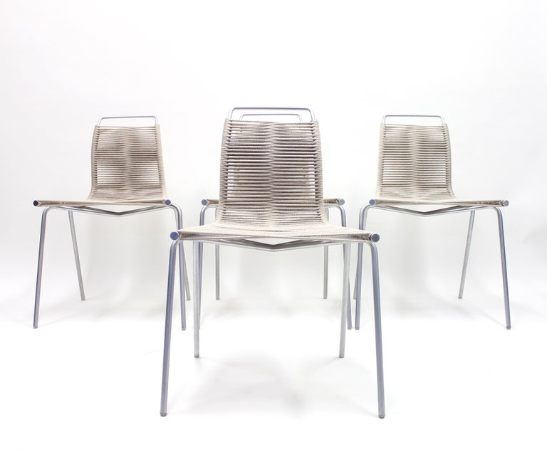 PK1 Chairs by Poul Kjærholm for Thorsen Møbler, Set of 4 For Sale 2