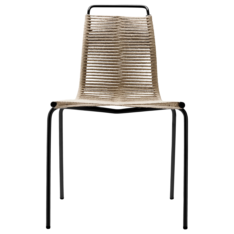 PK1 Dining Chair in Black Steel Base by Poul Kjærholm