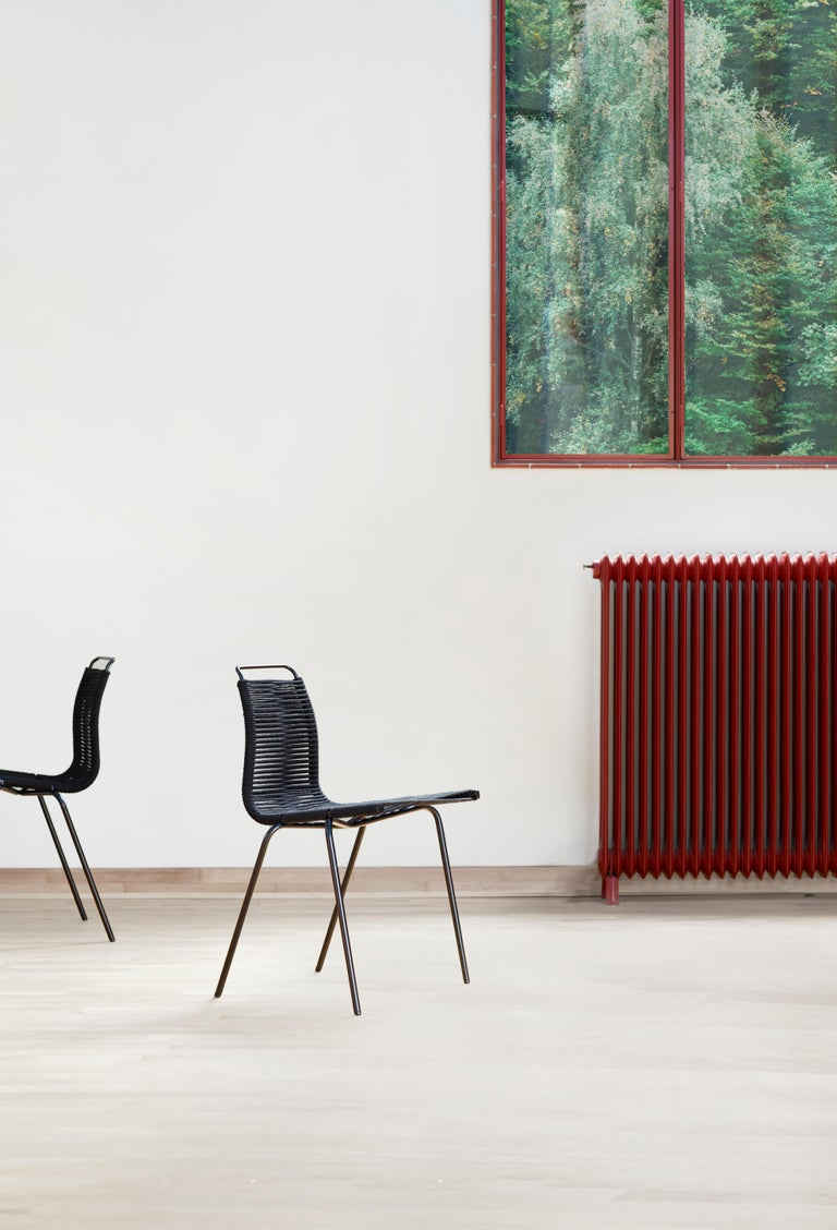 PK1 Dining Chair in Chrome Base by Poul Kjærholm For Sale 5