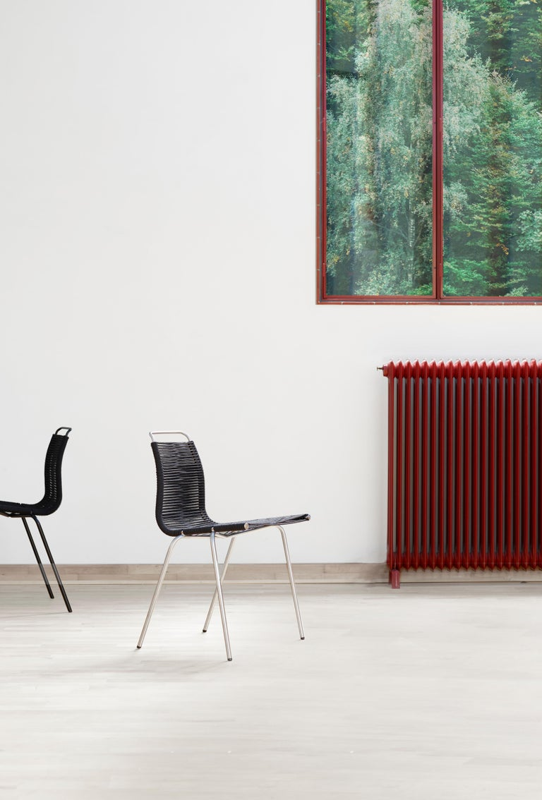 PK1 Dining Chair in Chrome Base by Poul Kjærholm For Sale 10