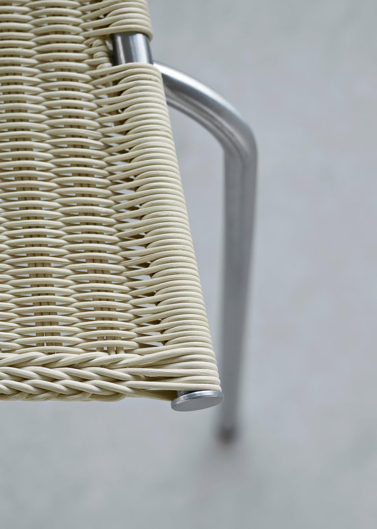 PK1 Dining Chair in Stainless Steel Base by Poul Kjærholm For Sale 1