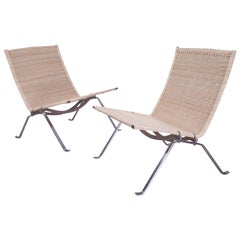 PK22 Lounge Chairs, Poul Kjaerholm, Re-caned