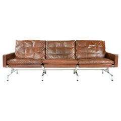 PK31-3 Leather Sofa by Poul Kjaerholm