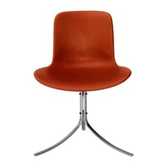 PK9 Chair in Leather by Poul Kjaerholm for Fritz Hansen