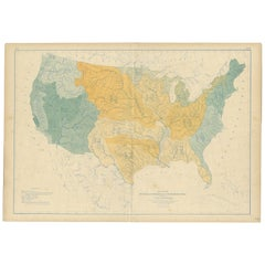 Pl. 2 Antique Map of the River Systems of the United States by Walker '1874'