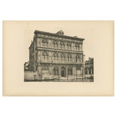 Pl. 25 Antique Print of the Ca' Vendramin Calergi Palace in Venice, circa 1890