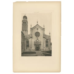 Pl. 26 Antique Print of Madonna dell'Orto in Venice, circa 1890