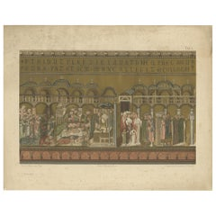 Pl. 30 Antique Print of a Mosaic of the Basilica of San Marco '1881'